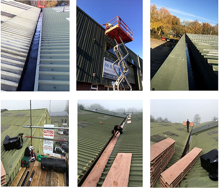 Commercial gutter lingings